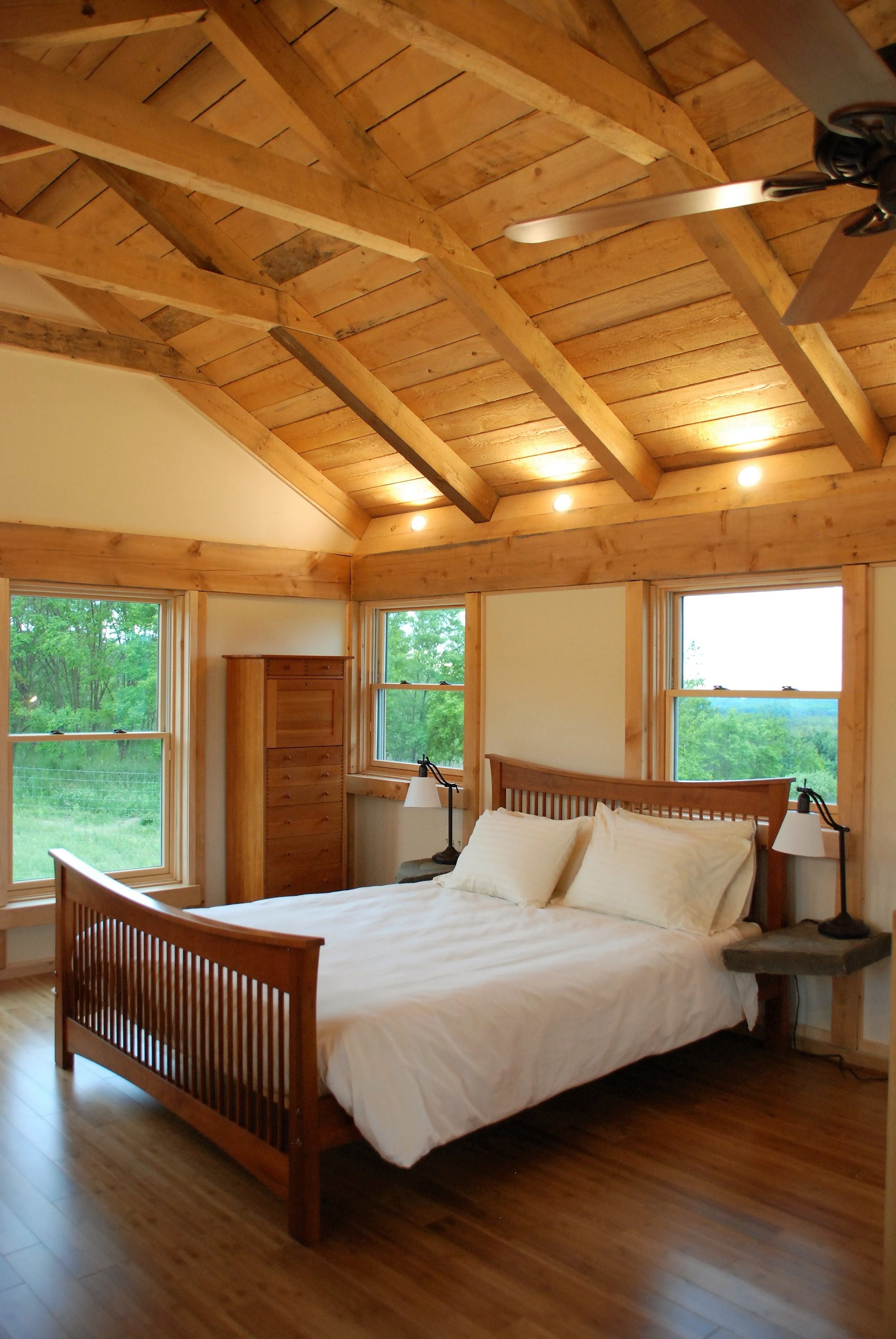 Tiny Timber house upstairs bedroom