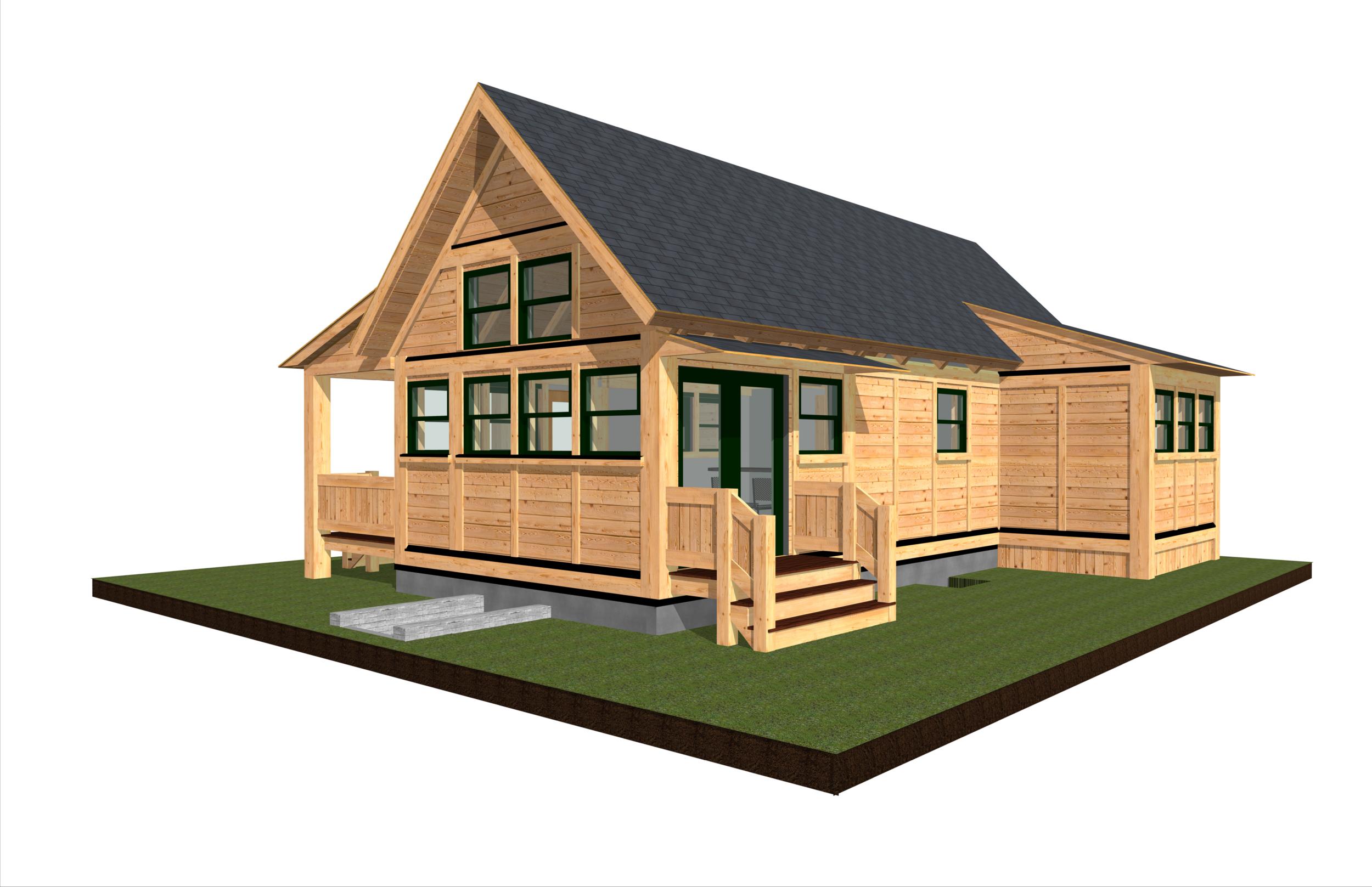 Tiny Timber single floor 2 bedroom home