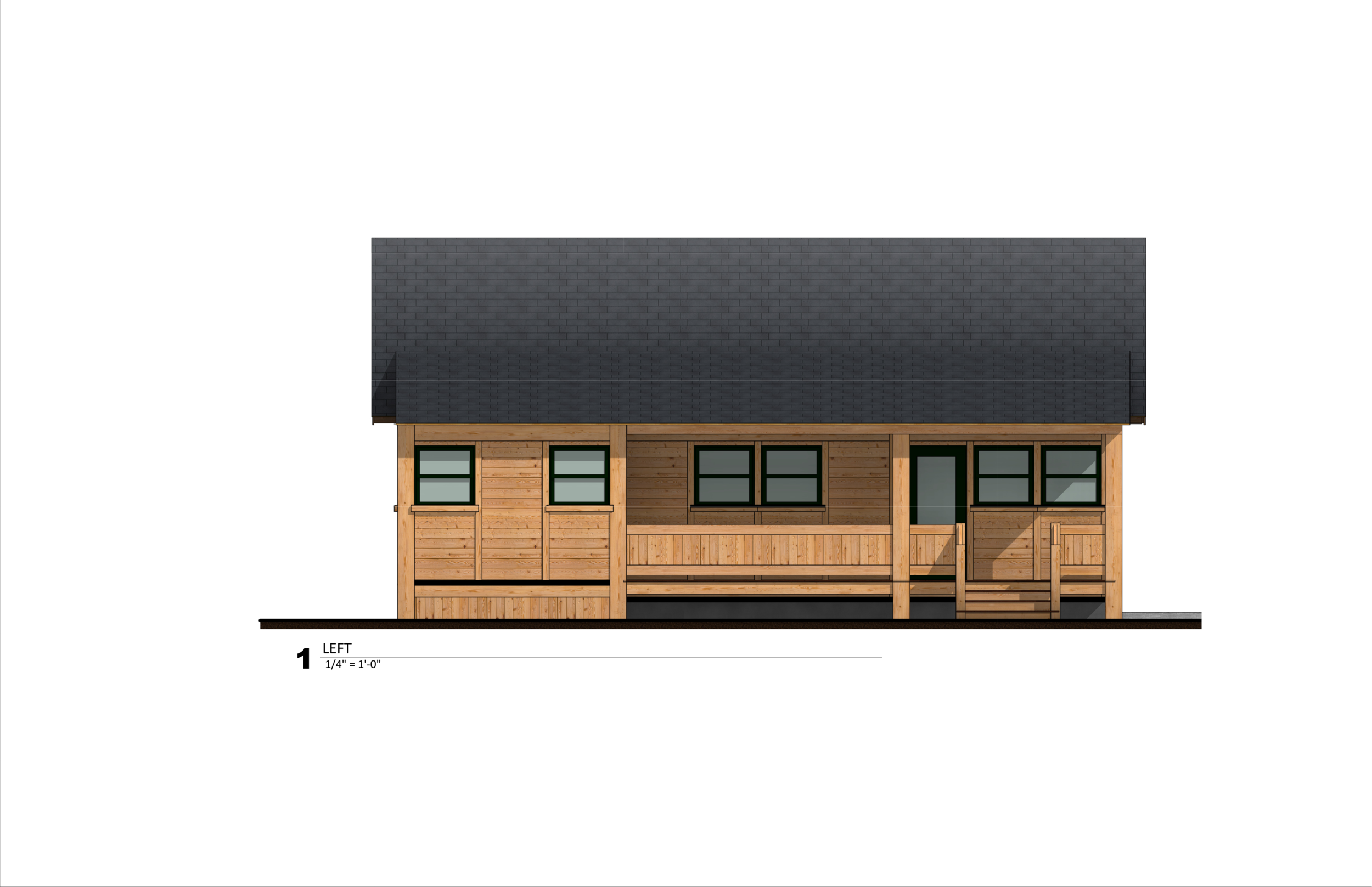 Front view elevation