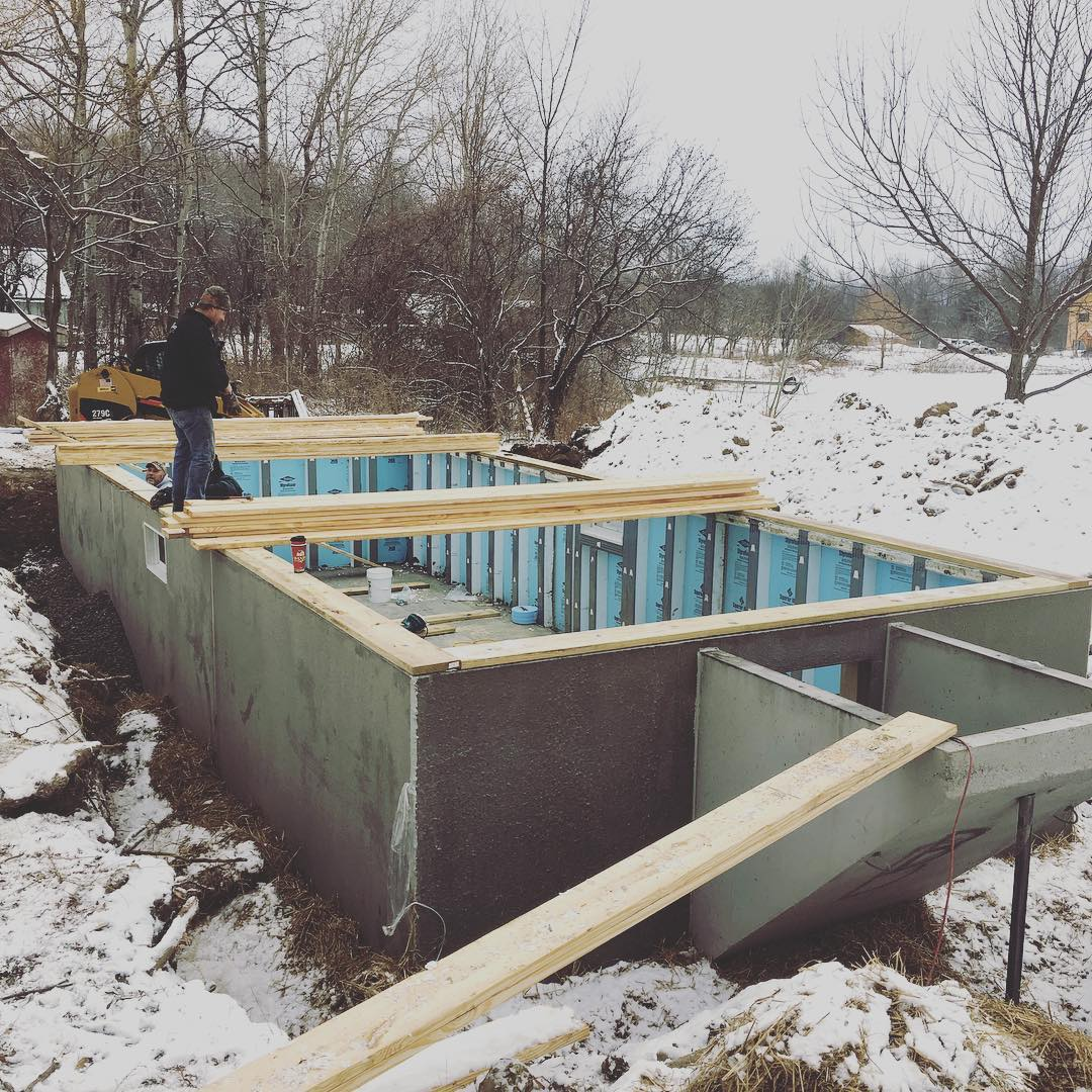Superior Walls Basement Construction