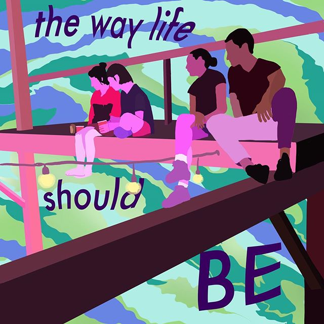 """""""The way life should be"""" created  at Postock by @in_modo_divino 💙 thank you!!"""