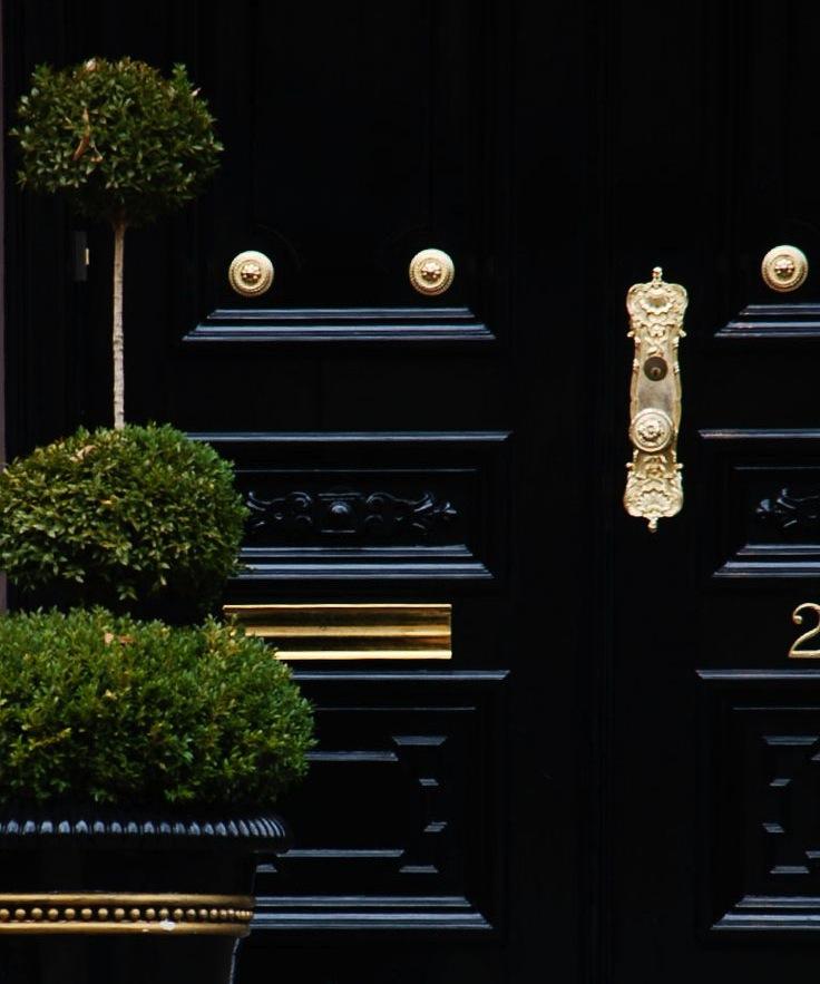 black door gold hardware