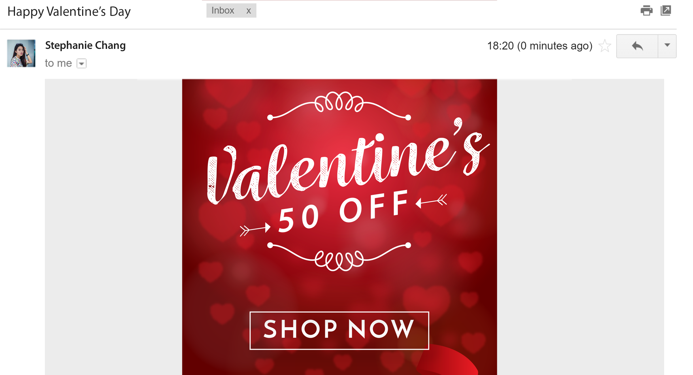 Valentine's Day email