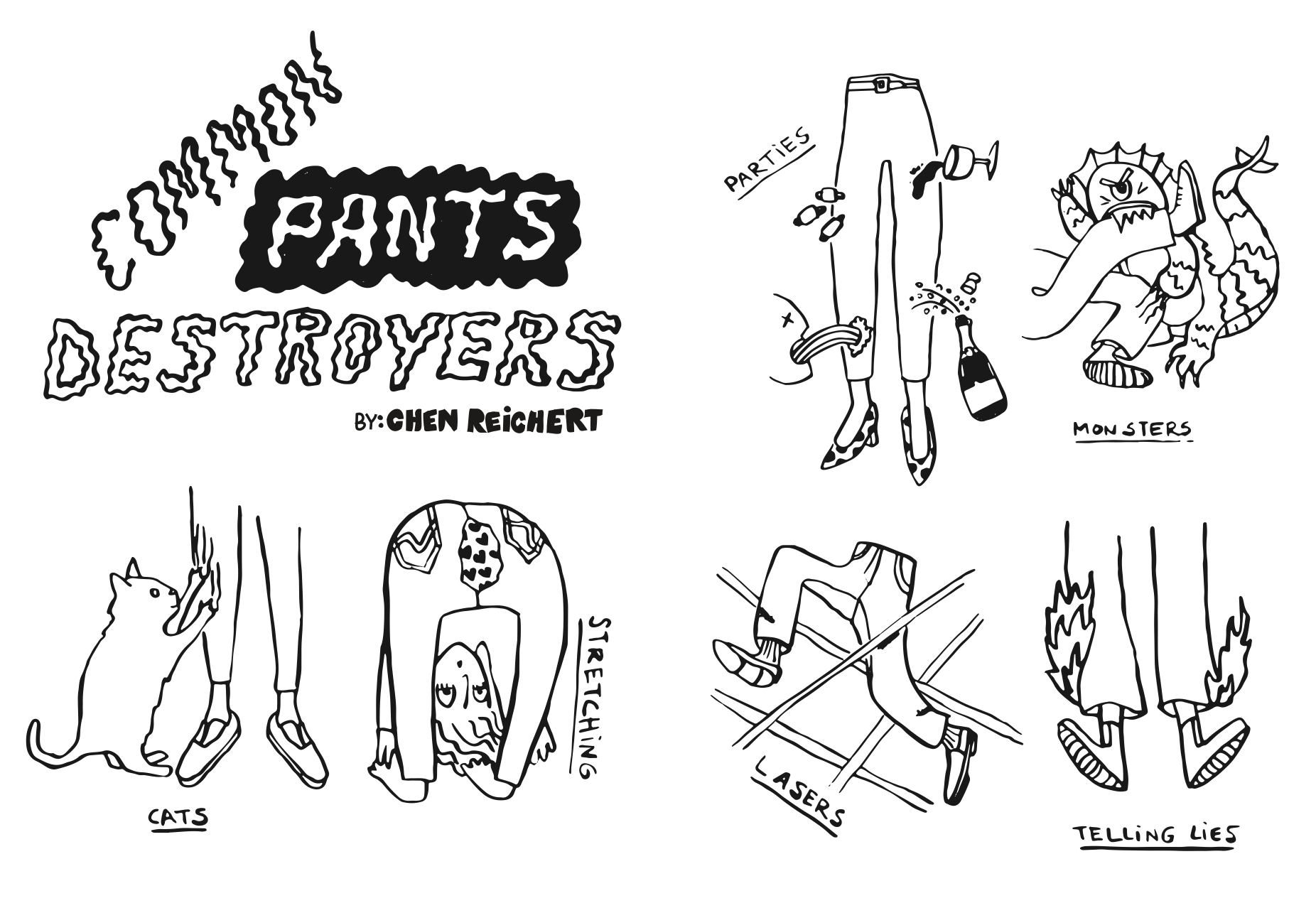 Common Pants Destroyers for No Pop Zine Summer 2016