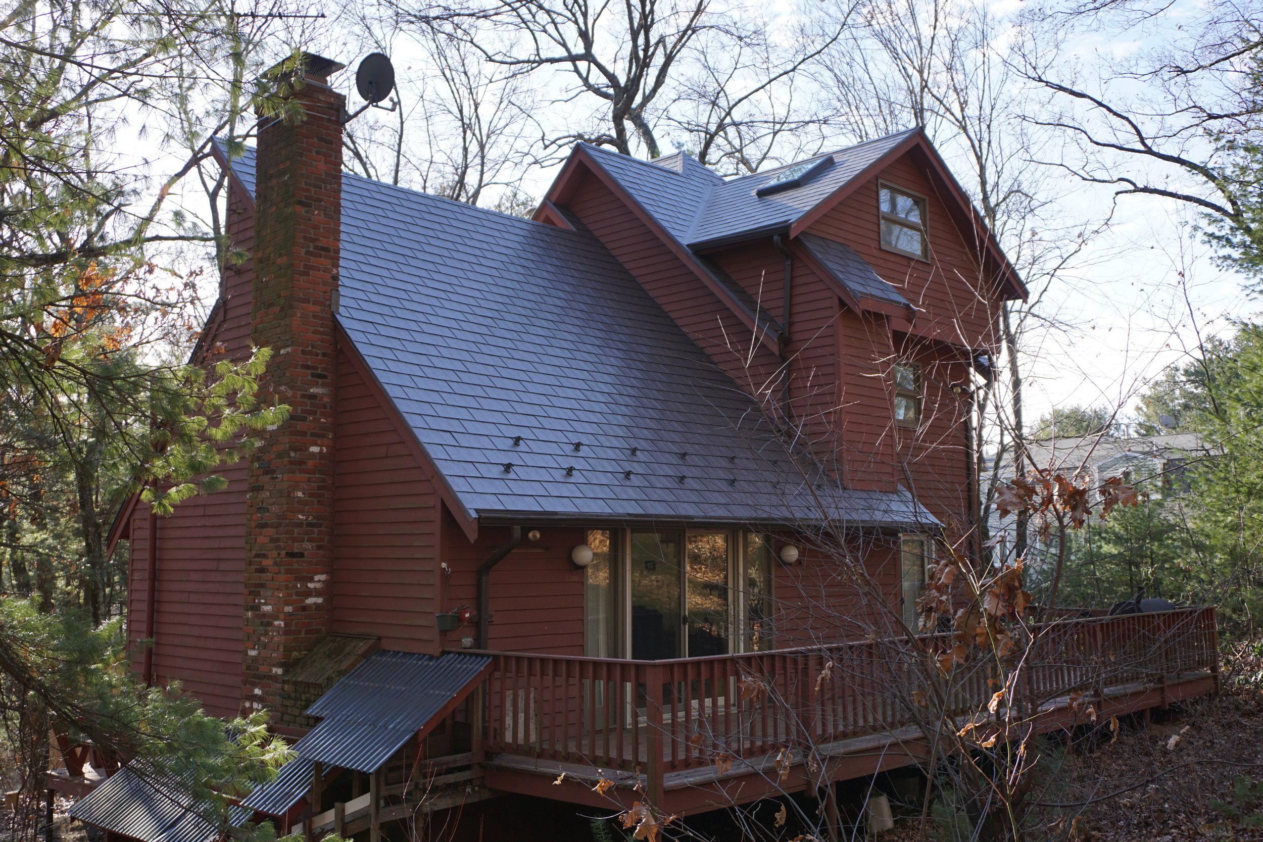Rustic Galvanized Metal Roof in Hudson