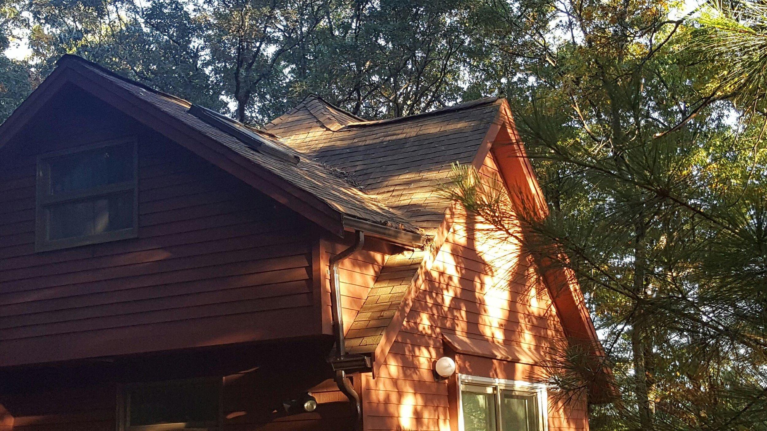 Rustic Galvanized Metal Roof in Hudson - Before