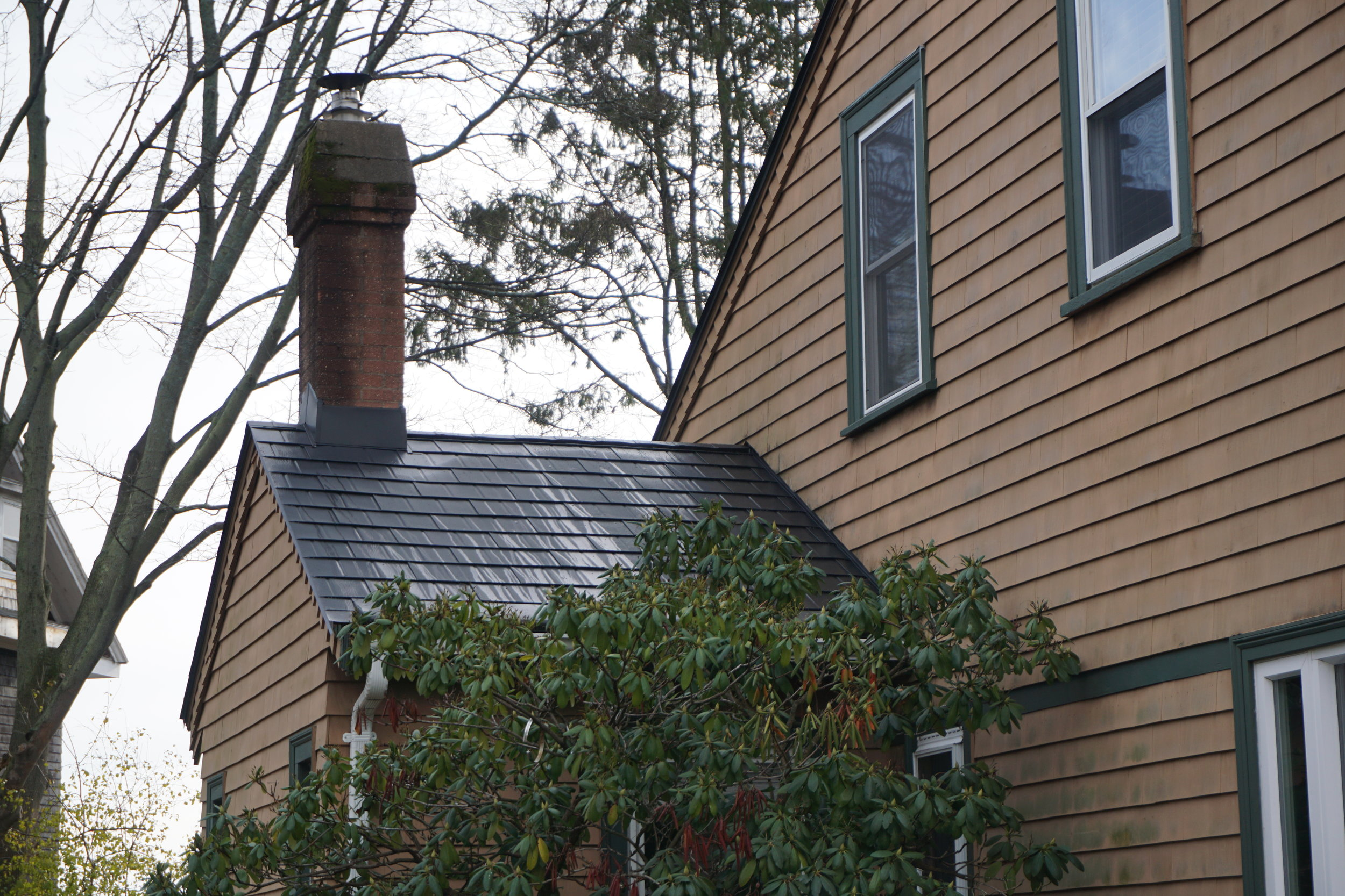 Black Metal Roof in Beverly - After