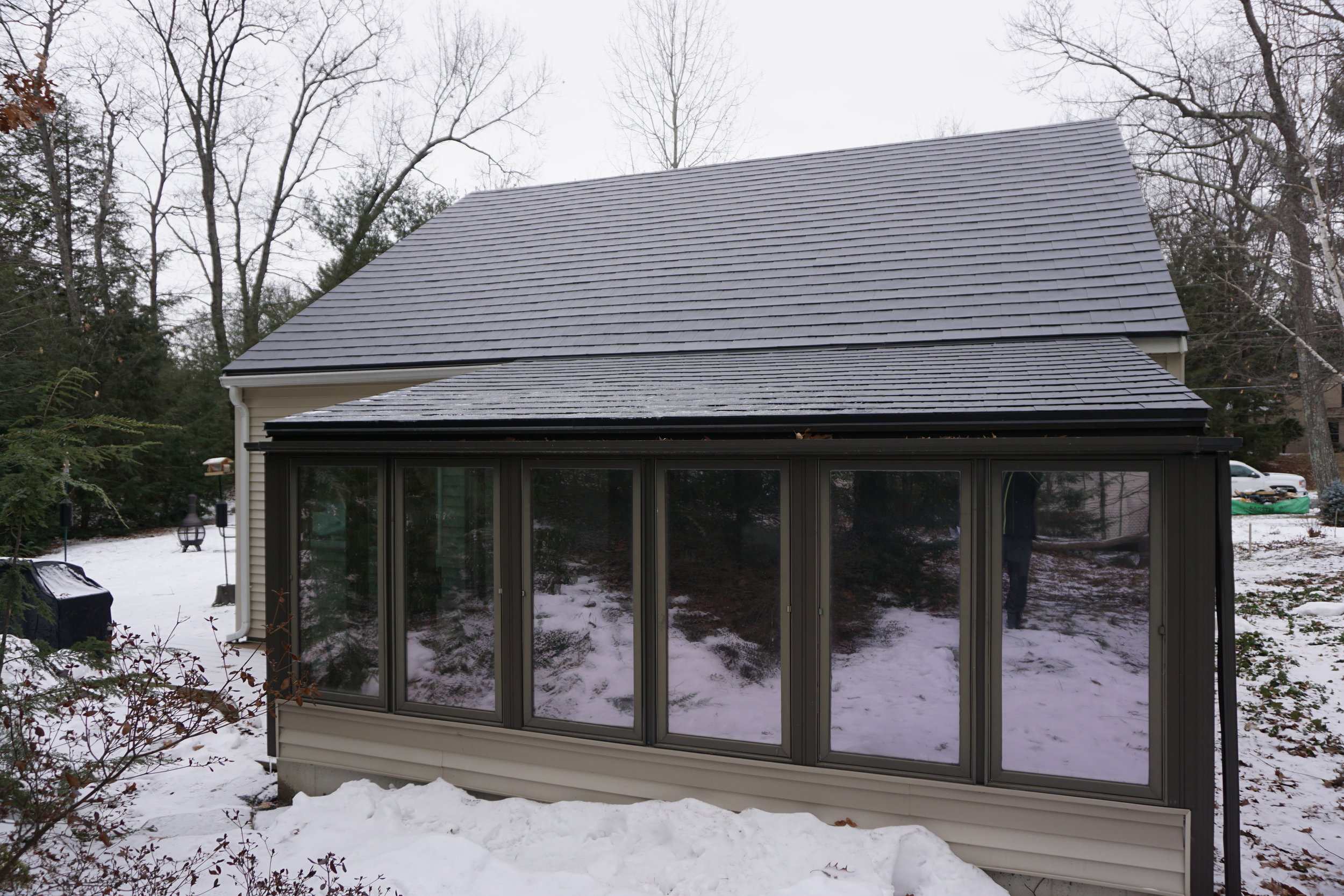 Black Metal Roof in Nashua - After