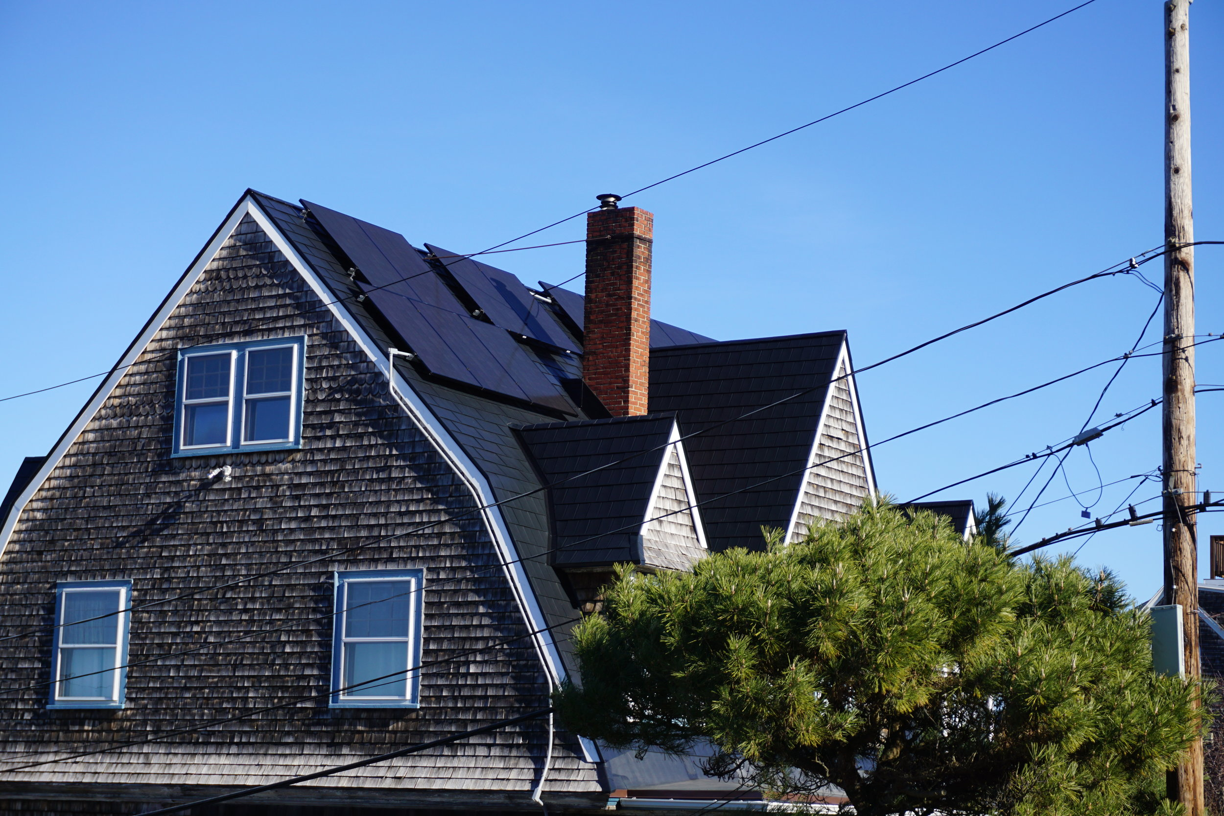 Black Metal Roof in Hull with Solar Panels - After