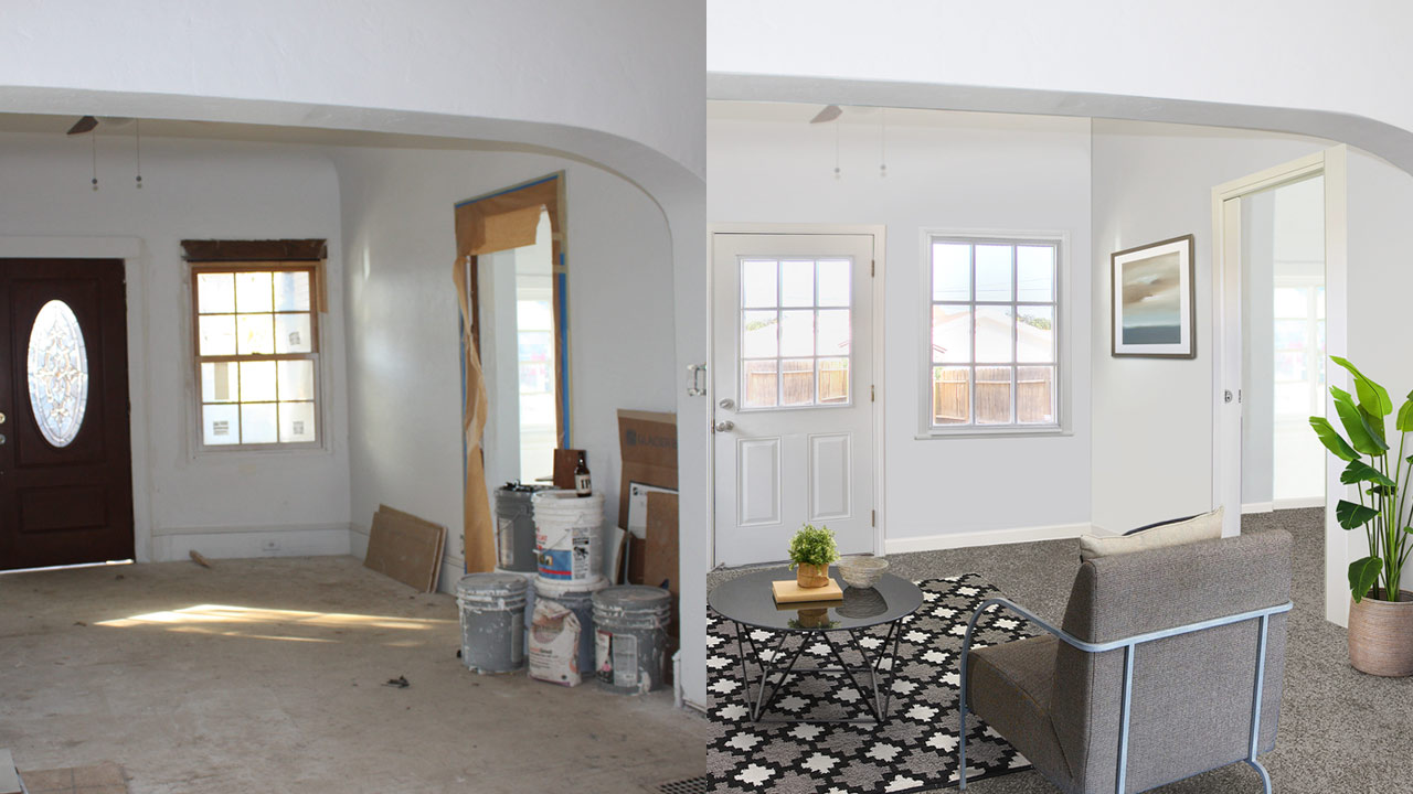 Virtual Renovation - Turn rooms or properties not suitable for photos yet into photos that showcase a properties potential. More examples can be found on our virtual staging page.