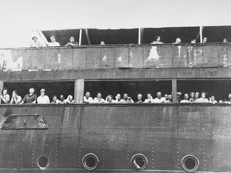 Jewish refugees aboard the MS St. Louis, 1939.