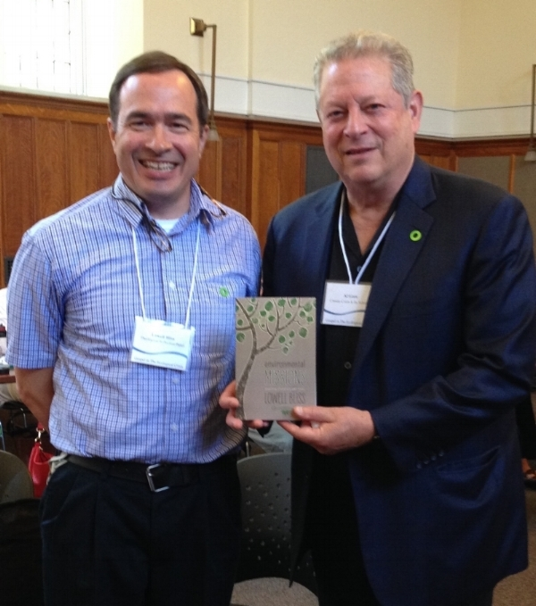 "In June of last year, I tried to follow E. Stanley Jones' advice and ""Stand down in those national currents and put Christ there."" I was honored to share a panel with Al Gore entitled ""The Gospel and the Ecological Crisis."" In this photo, I give him a copy of my book which includes the excerpt found in this week's article."