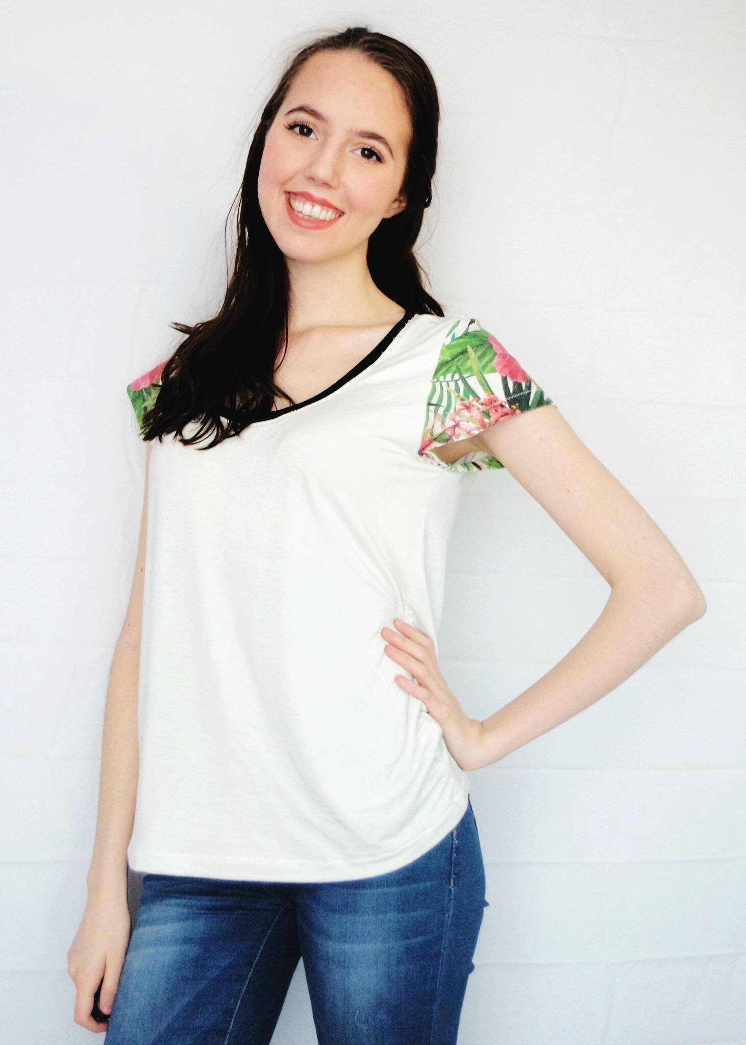Montlake Tee from Straight Stitch Designs - Sewn by Rachel over at The Wild Stitch!