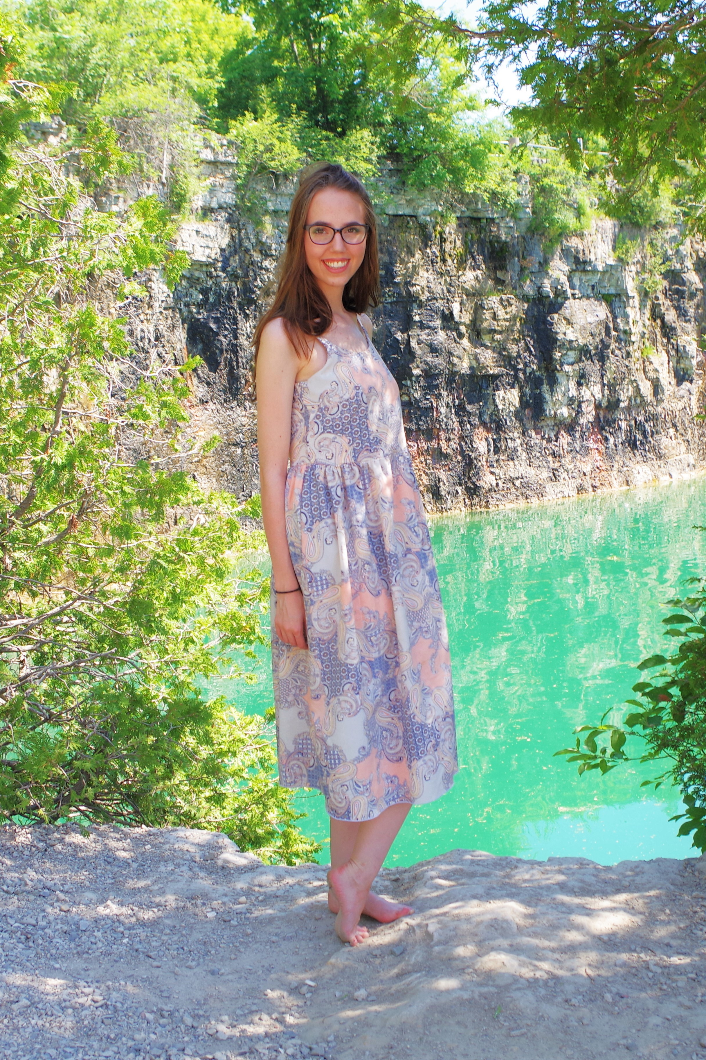 This perfect summer sundress is made with the Seamwork Catarina Dress Pattern! Click through for more information.