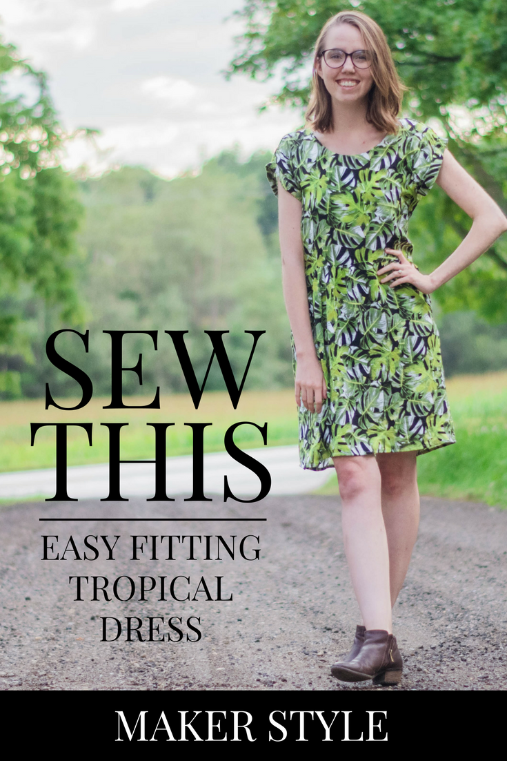 This trendy, easy-fitting dress is easy to sew using the Forsythe Dress Pattern! Click through to see how I DIY'd my own!