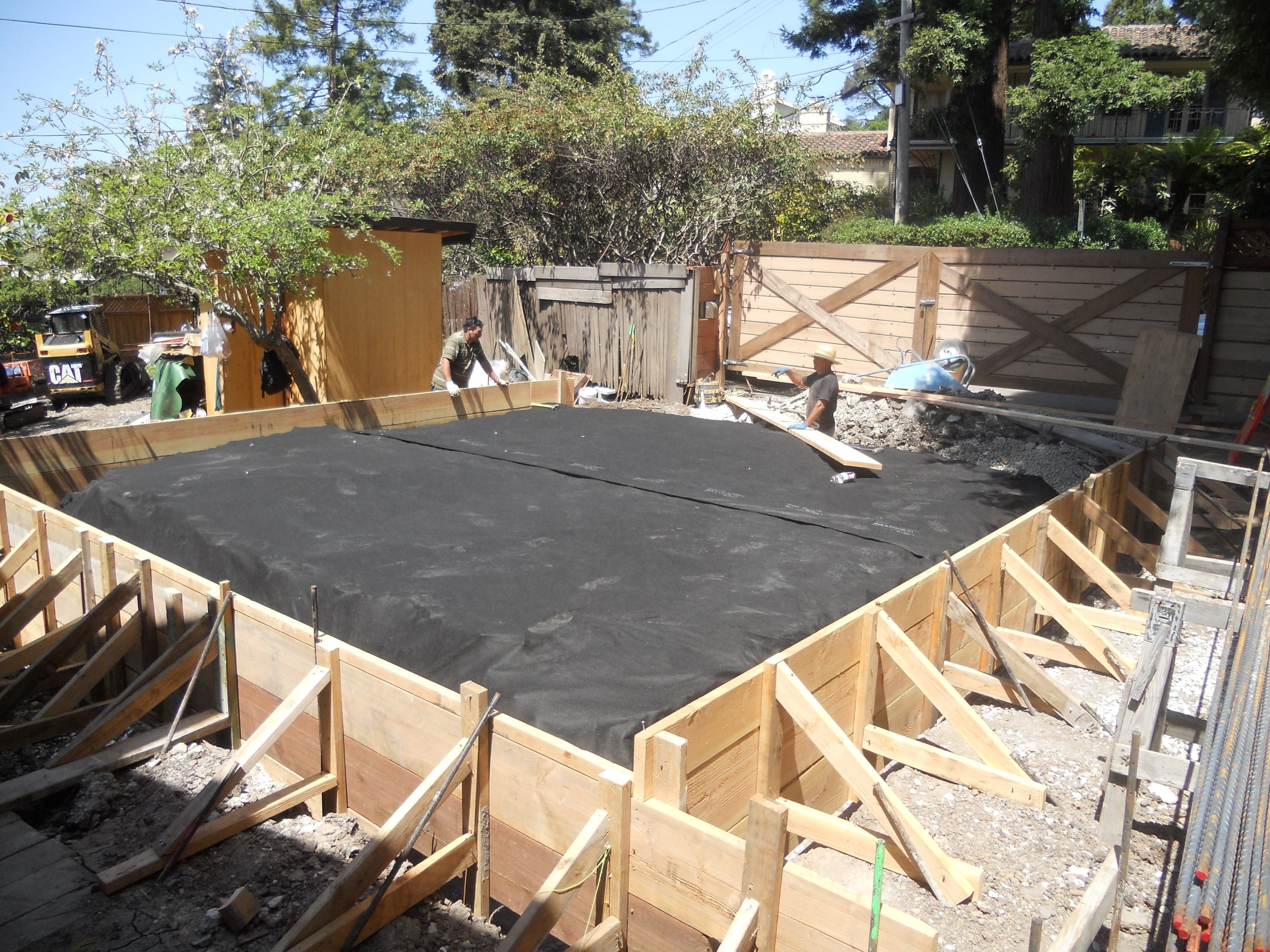 Residential foundation construction in Berkeley,CA