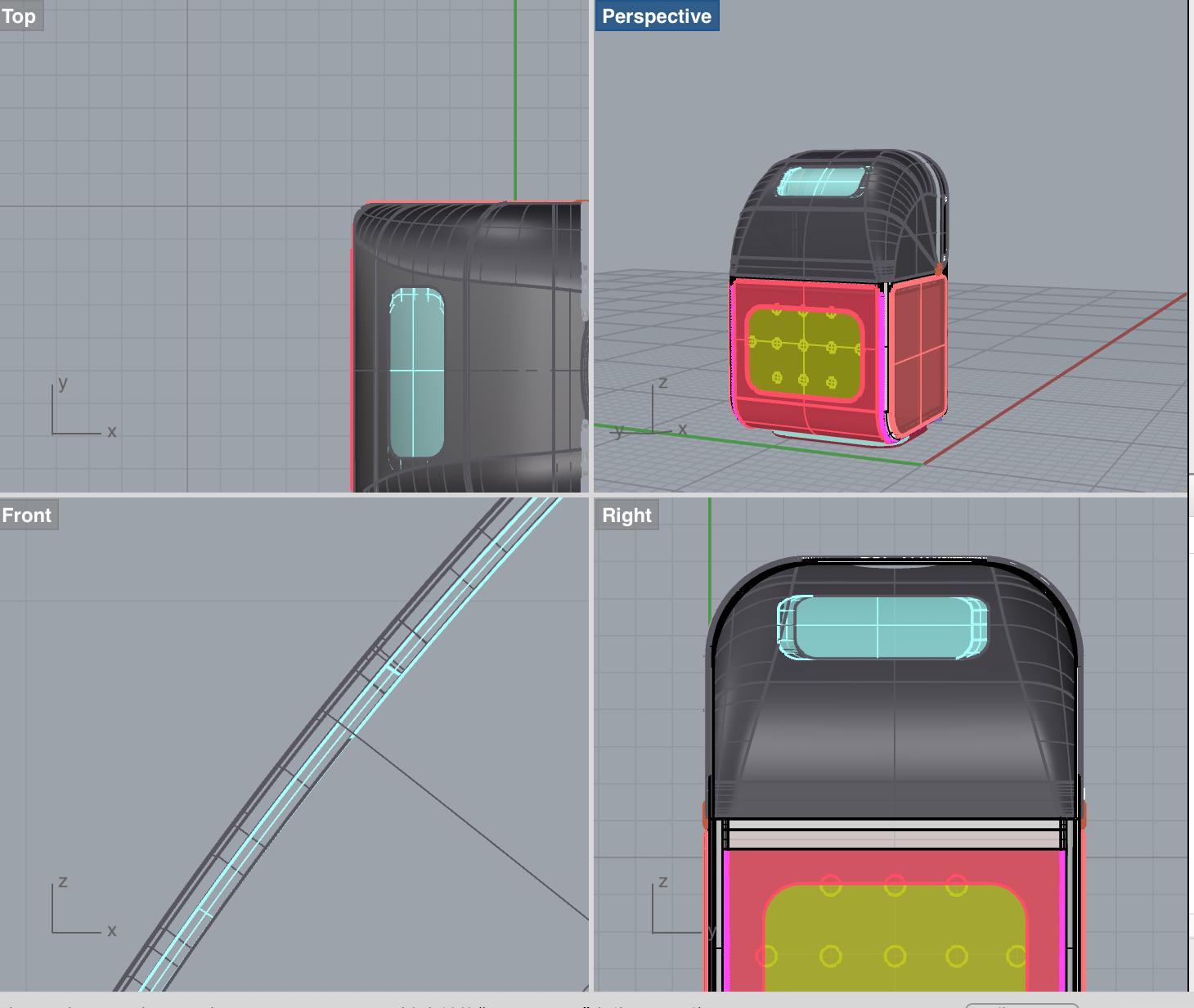3D model prototyping (Rhinoceros)