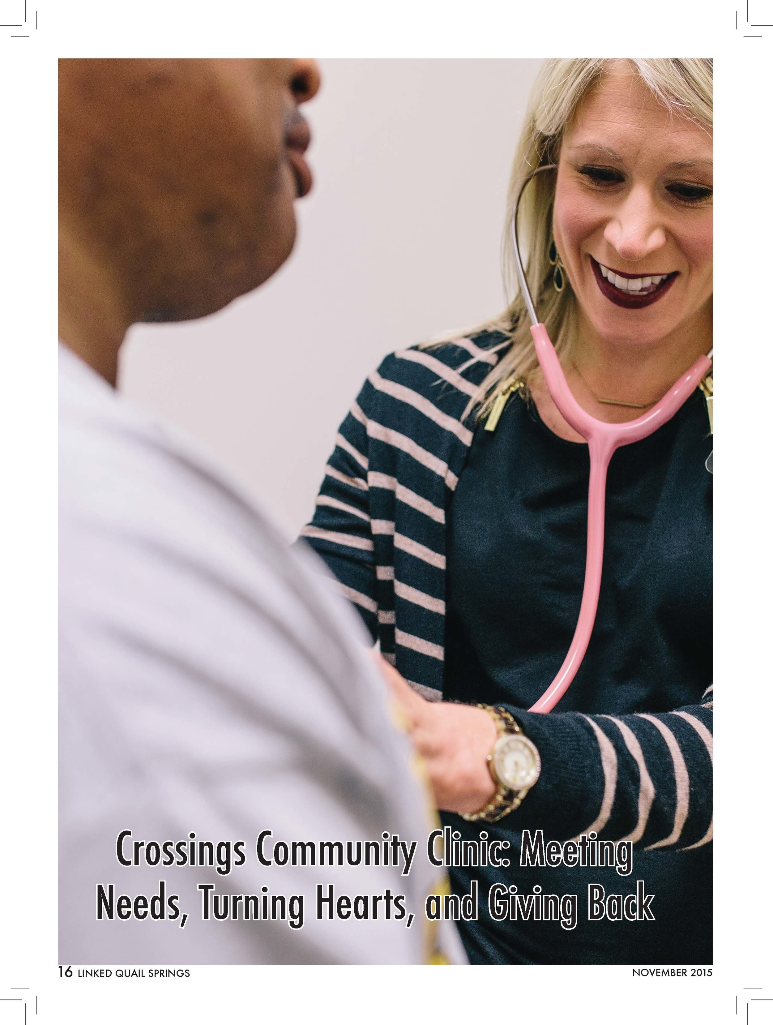 Crossings Community Clinic: Meeting  Needs, Turning Hearts, and Giving Back