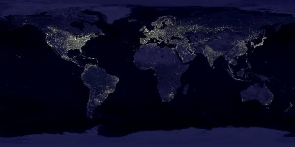 Light spill around the world captured by NASA