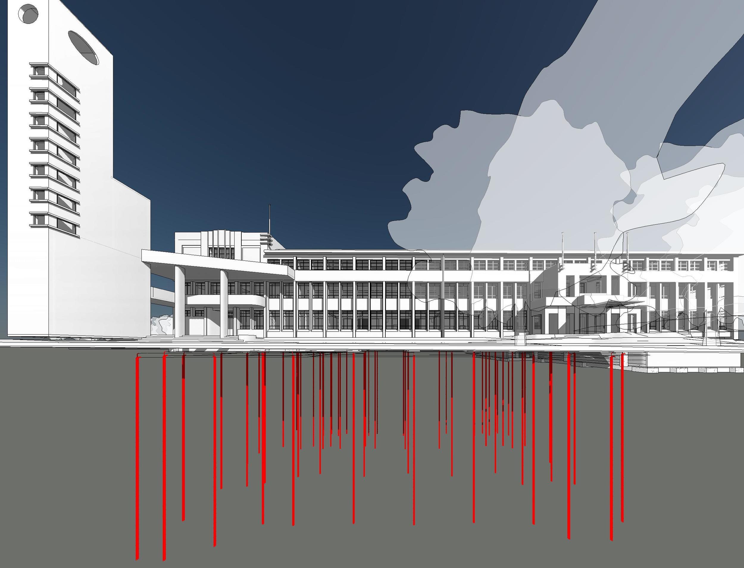 12733 - Geothermal - HCC AdminBldg - SAT_mwarwick - 3D View - Geothermal Pile Perspective 2.jpg