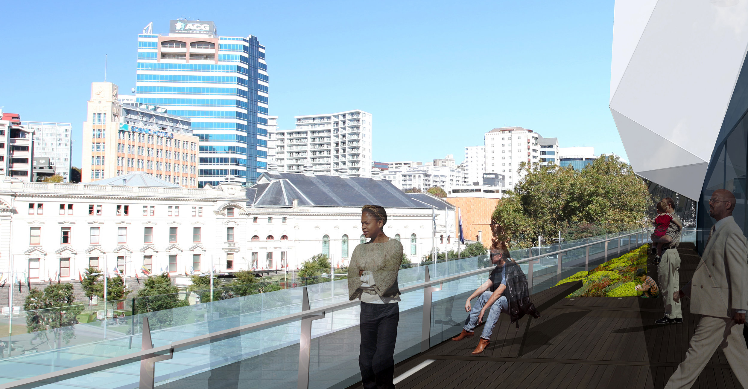 Aotea Centre Exterior Refurbishment Render_View from Level 5 Balcony.jpg