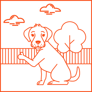 Dogs are welcome in the OUTDOOR areas of Hub Streat.