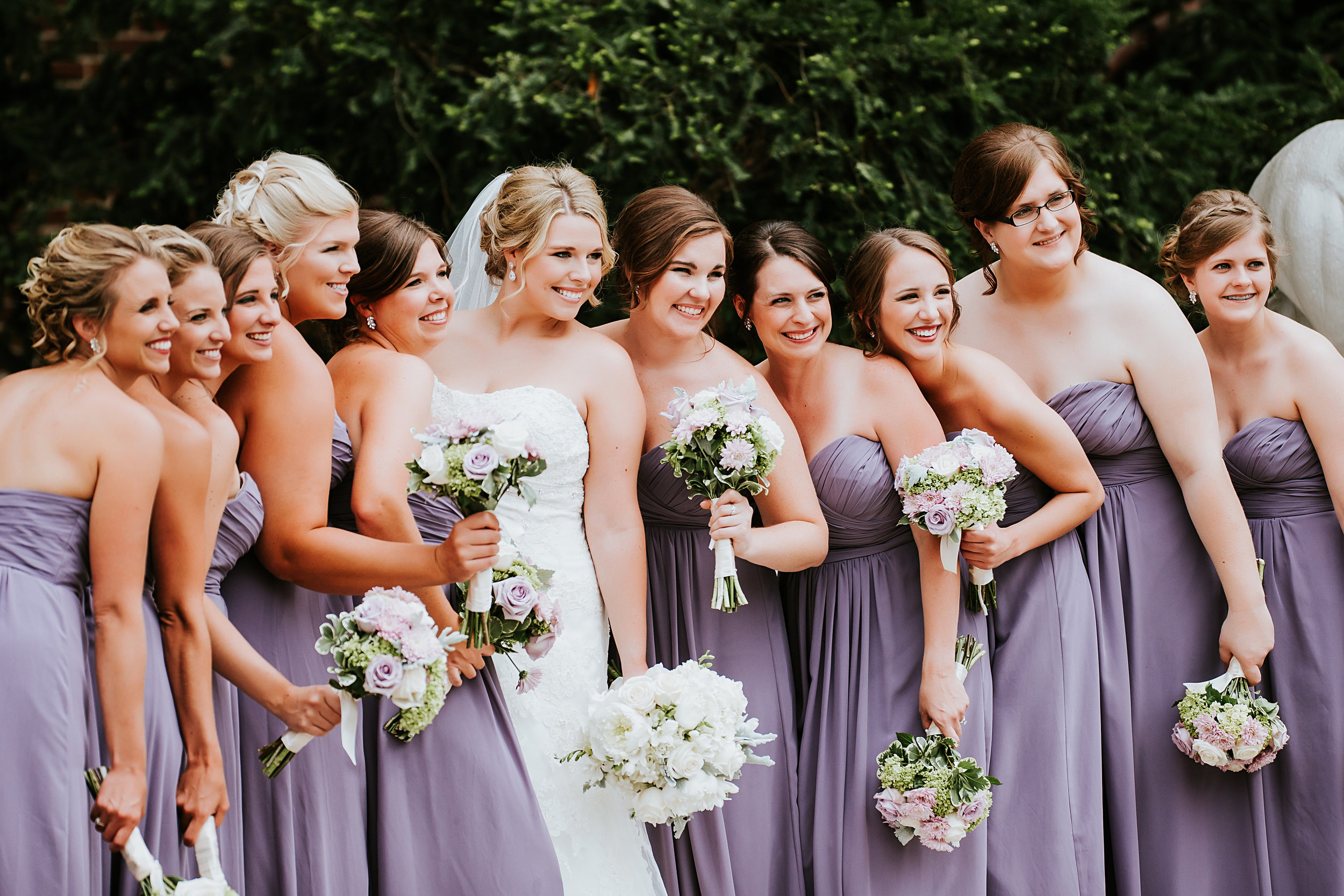 Look at those amazing flowers! This is such a beautiful photo of the bridal party!