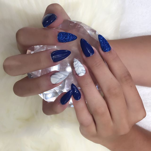 New designs marble and rock star nails