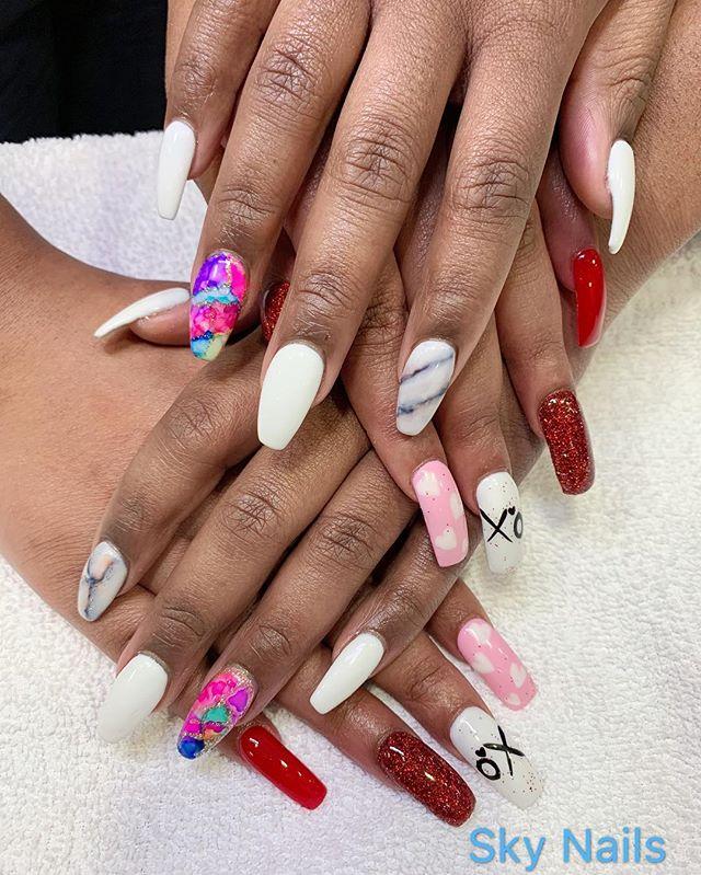 These are beautiful marble and tie-dye nails 😍🌈 so nice!! (Nails by Jason and Bryan) - - - #nail #nails #nailart #nailsofinstagram #nails💅 #nailart2019 #naildesigns #nailartist #nailstagram #luxuary #luxuarynails #tiedye #marble #marbles #explore #marblenails #nailsalon #skynails #springfield #missouri #nailartist #nailspa #nailsoftheday #sparkle #nicenails #instagramnails