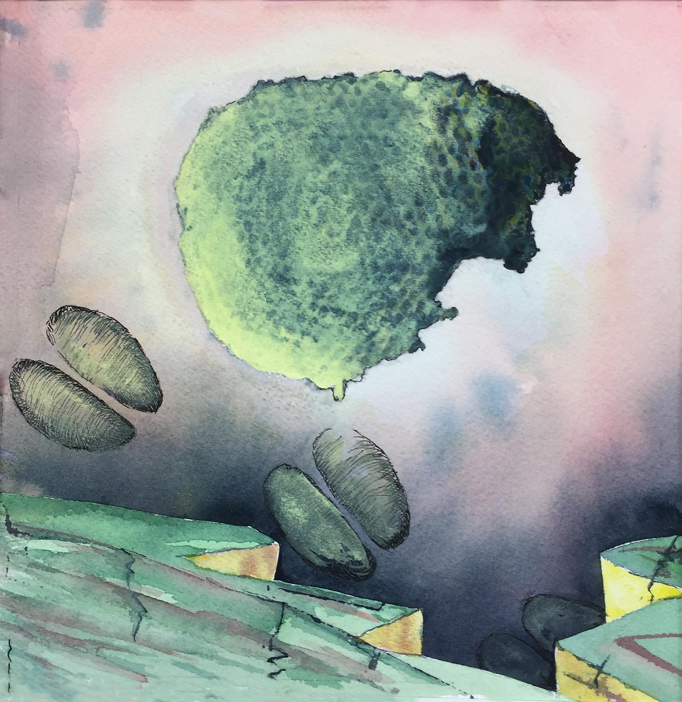 Study for Feral Fracking Series,  by Linda Fawcett