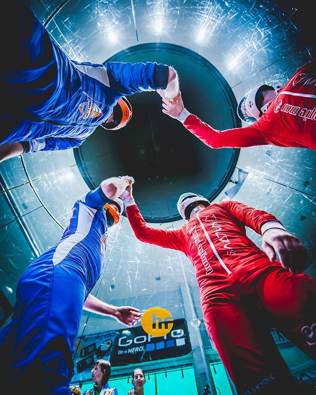 Fair Play-no matter if you win or loose,play fair! Photo from the 1st World cup in indoor skydiving in @hurricanefactory_prague . . . #skydiving #indoorskydiving #tunnelskydiving #hurricane #hurricanefactory #sport #sportphotography #redbull #gopro #fairplay #adrenaline #extreme #friendship #worldcup #tunnel #extremesports #sportphotography #nikon #sportphoto