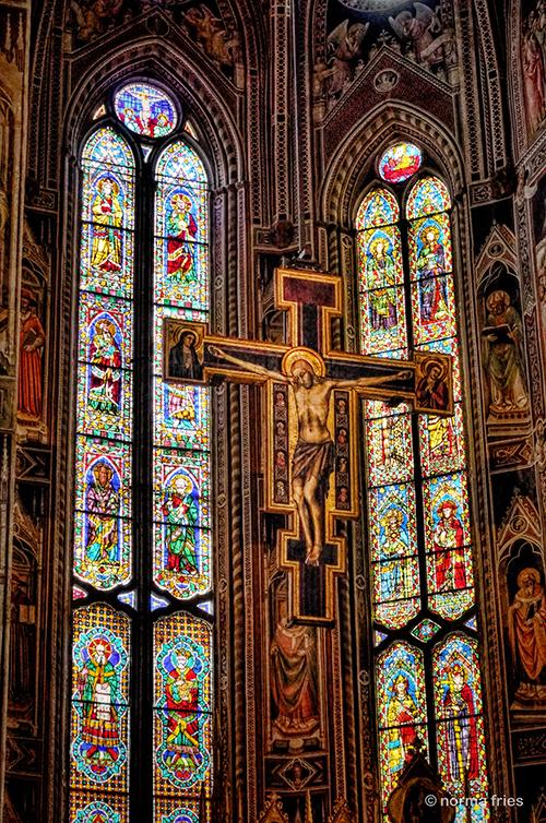 "IT206: ""Florence: crucifix inside Santa Maria Novella"