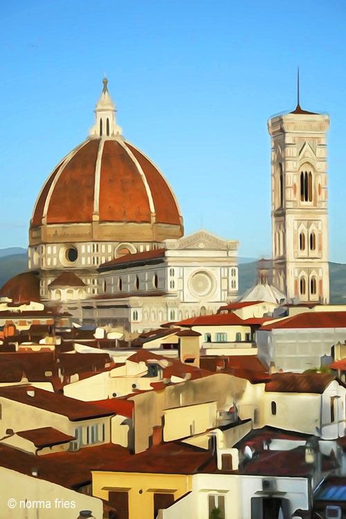 """IT202: """"Florence: Duomo and rooftops (WC)"""""""