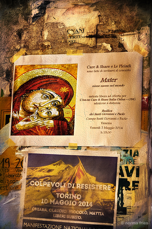 "IT217: ""Venice: posters on street"""