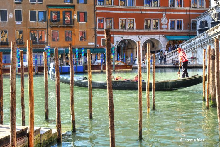 "IT221: ""Venice: gondola in Grand Canal"""