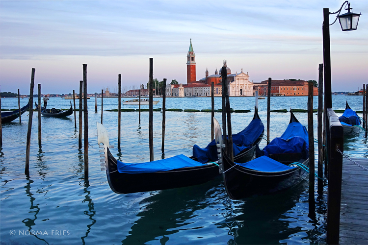 "IT224: ""Venice: blue covered gondolas"""