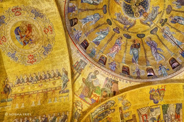 "IT234: ""Venice"" St. Mark's Basilica gold interior, I"""