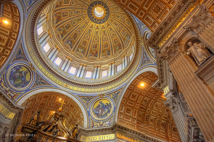 """IT256: """"Rome: Dome in St. Peter's Basilica"""""""