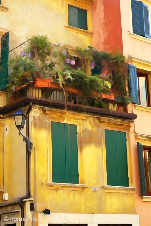 """IT293: """"Verona: outside wall in plaza"""""""