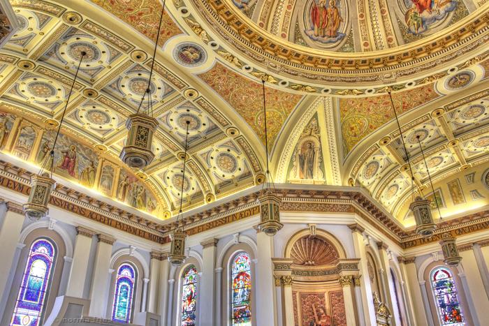 "BA503: ""St. Joseph Basilica: windows and dome"""