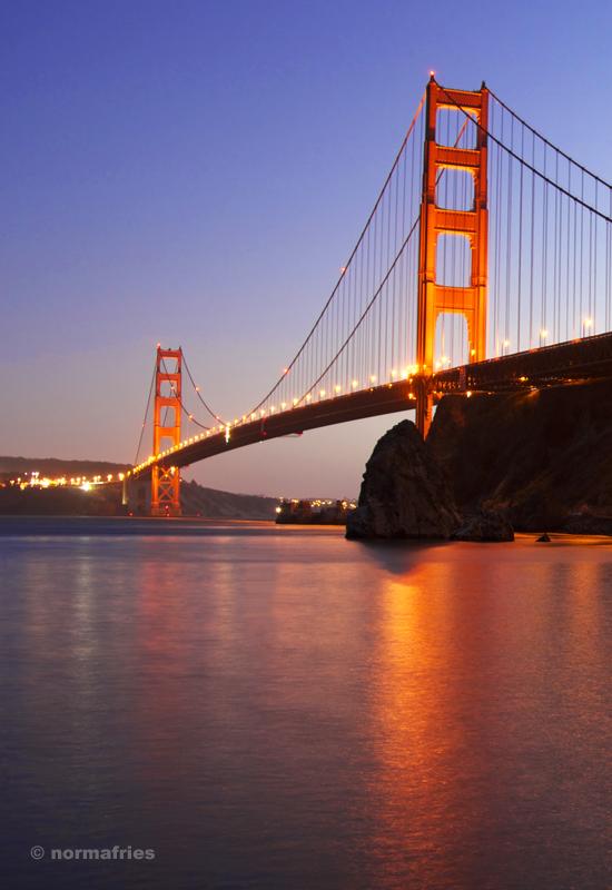 """TU734: """"San Francisco: Golden Gate at night"""""""