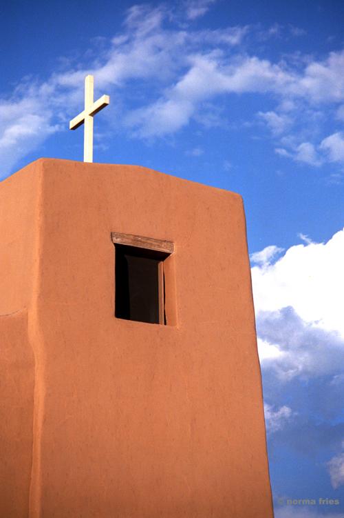 "TU746: N. New Mexico: adobe church"""