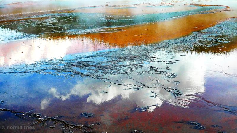 """LN929: """"Yellowstone: cloud reflections"""""""