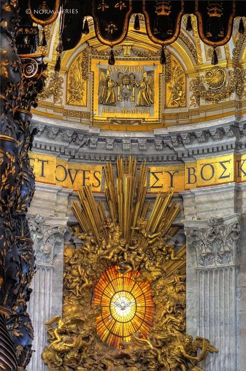 "IT259: ""Rome: St. Peter's Basilica Holy Spirit window"""