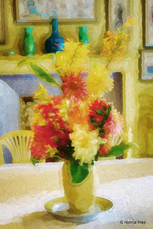FR406: Flowers in Monet's dining room