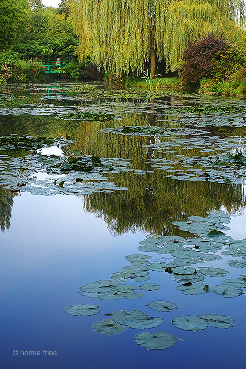 FR409-Giverny, France: Monet's lily pond and bridge