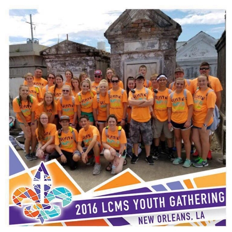 Hope traveled to New Orleans with 21 Sr. High youth for the LCMS National Youth Gathering.
