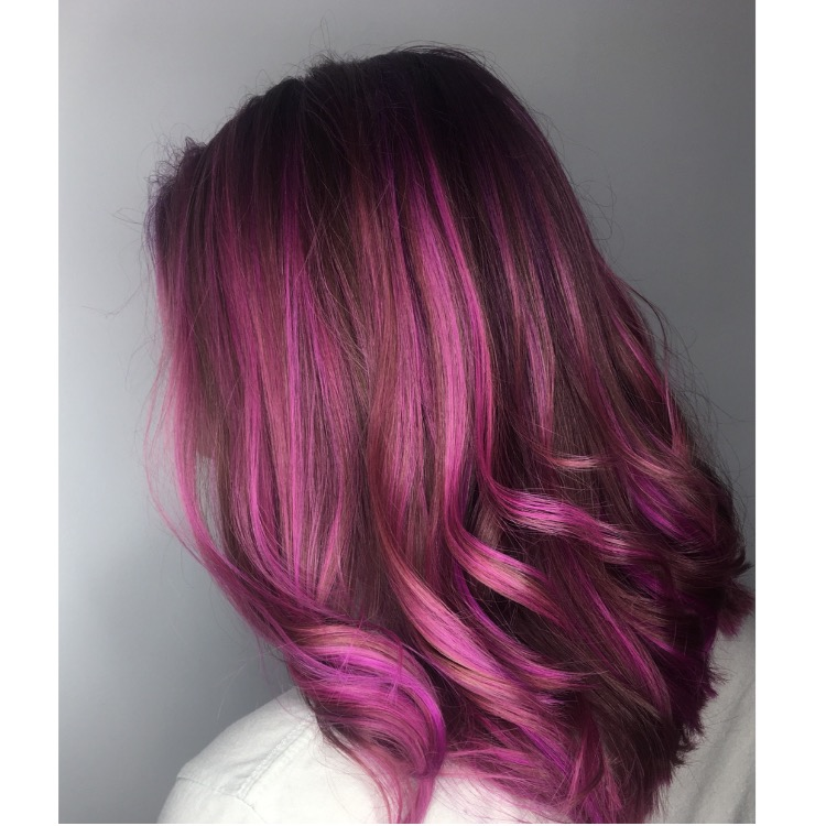 After   Once the client understood all possible risks and outcomes we began to proceed with the color.    Sectioning   :