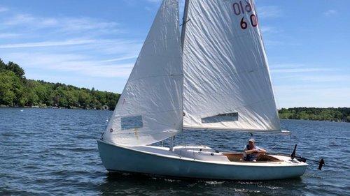 """Russ L rebuilt his """"new"""" 1968 Rhodes 19 into """"Sail Again"""""""