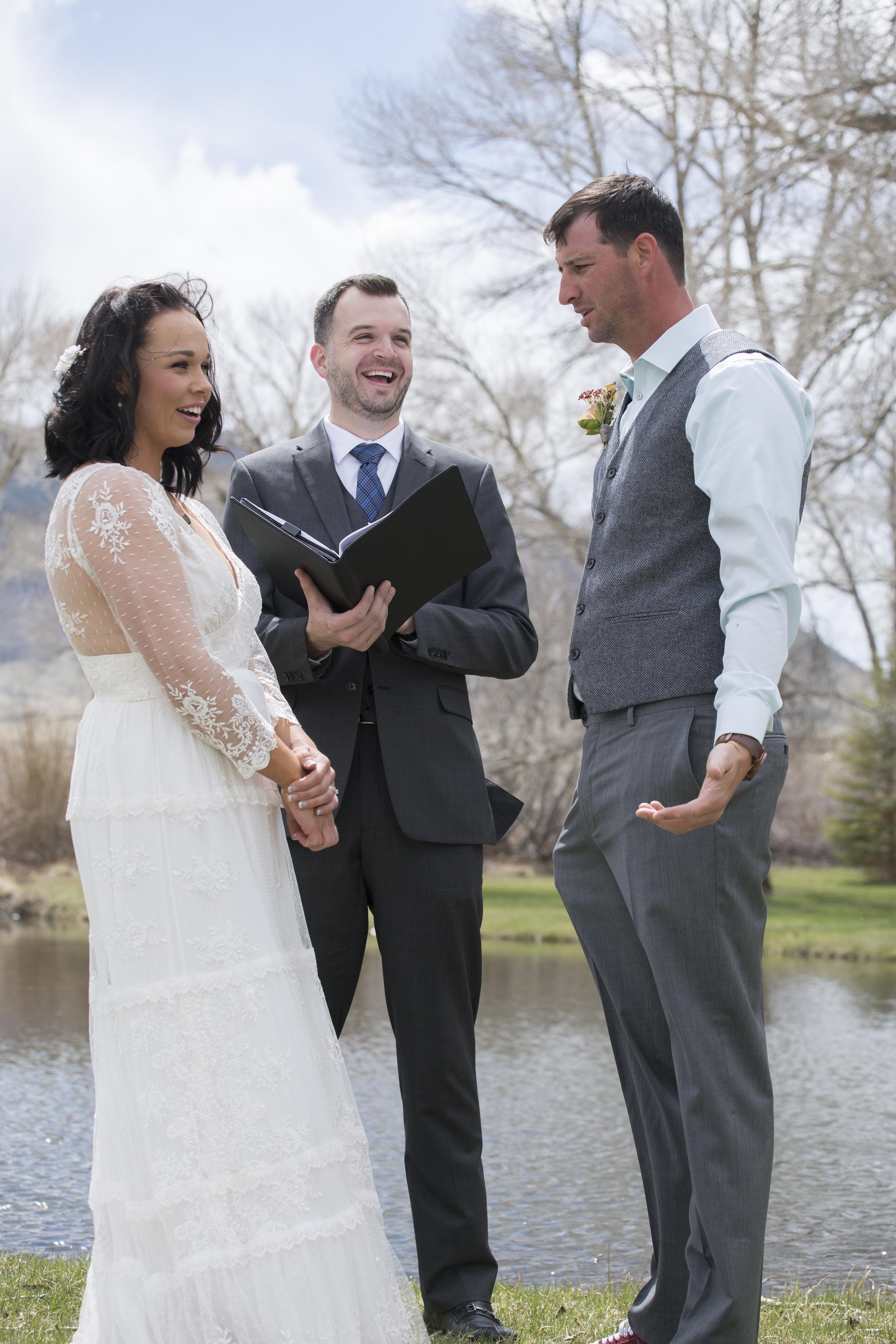 Wyoming Wedding Groom Forgets Rings